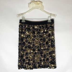 BCBG Women's Max Azria Skirt Sequin Black/Gold M